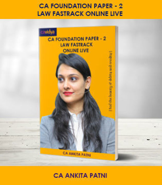 Picture of CA FOUNDATION Paper-2: Law Fastrack Online Live