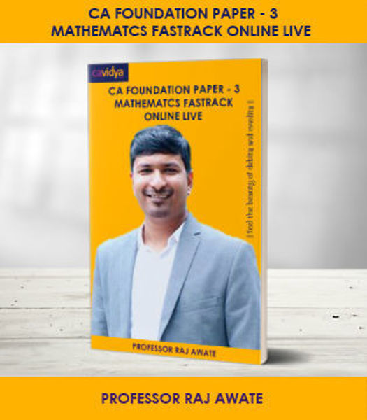 Picture of CA FOUNDATION Paper-3: Mathematcs Fastrack Online Live