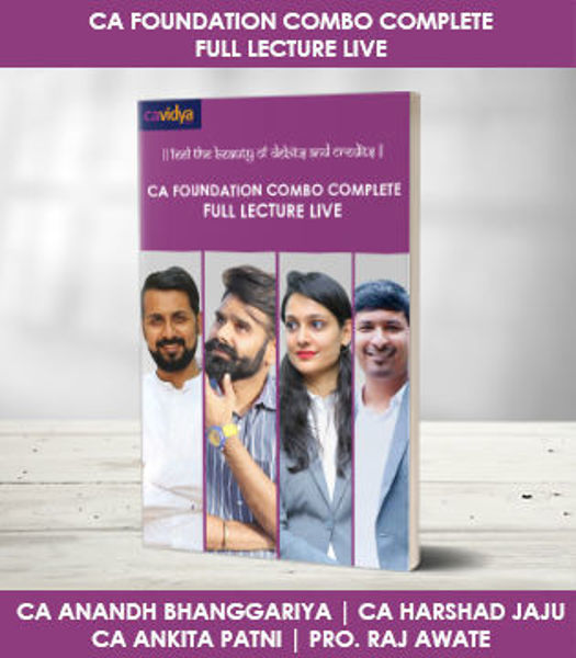 Picture of CA FOUNDATION COMBO COMPLETE CA FOUNDATION FULL LECTURES LIVE